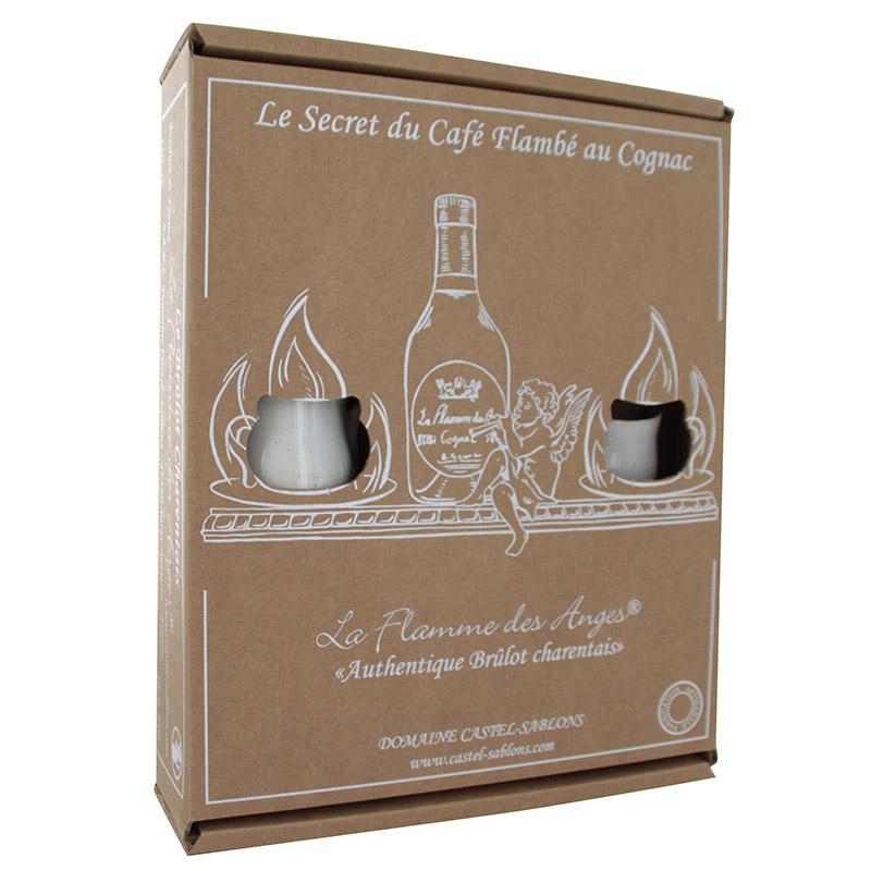 Coffret Cognac et tasses pour Brulot Charentais