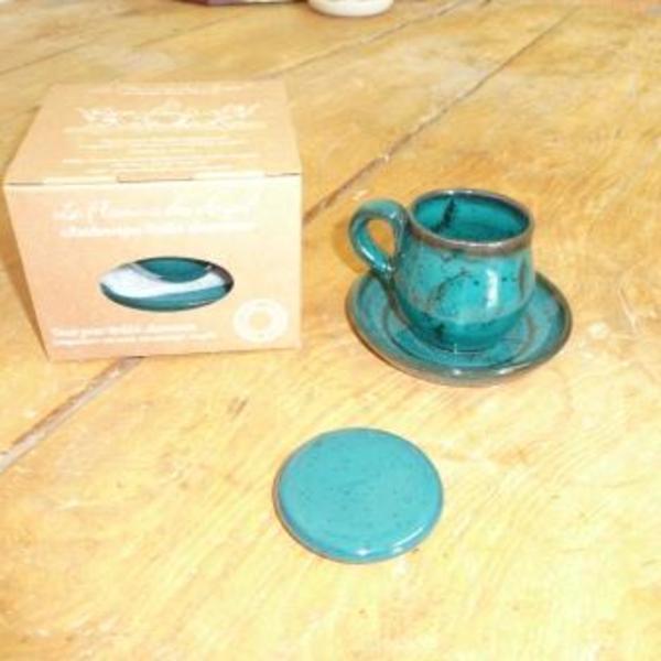 Kit tasse, soucoupe et galet pour brulot Charentais - Café au Cognac